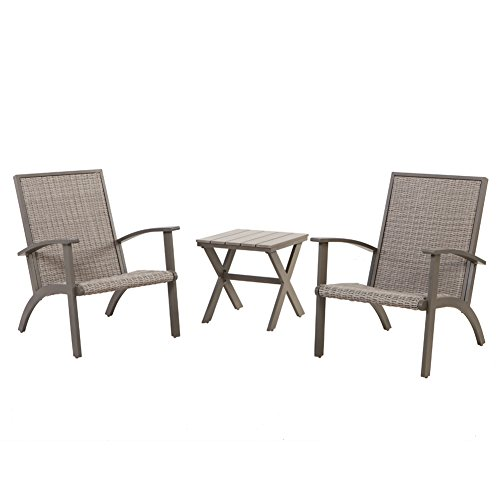 Cheap Grand patio Shakopee 3-Piece All Weather Rattan Wicker Outdoor Conversation Set – Grey