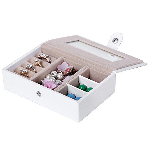 Songmics Jewelry Box Girls Jewelry Organizer Mirrored Mini