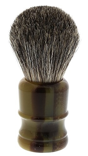 West Coast Shaving 100% Pure Badger Shaving Brush. Dense Fibers. (Tortoise- Torch)