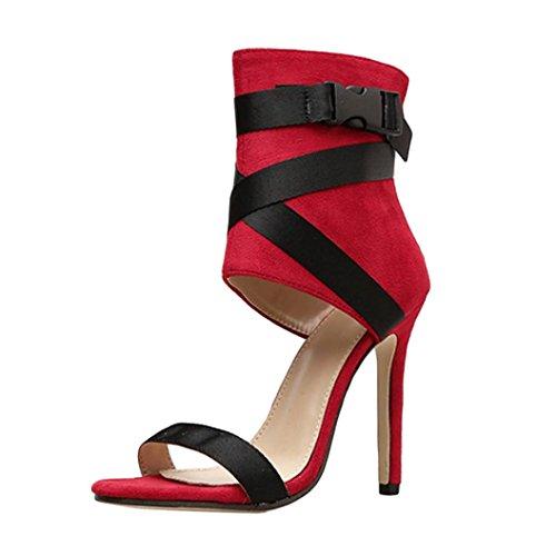 PAOLIAN de Zapatos de PAOLIAN Tacón Altas para Mujer Verano 2018 Moda Bar 1cfeb6