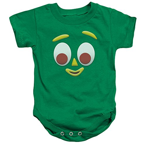 Gumby Face - Big Face -- Gumby Infant One-Piece Snapsuit, 6 Months