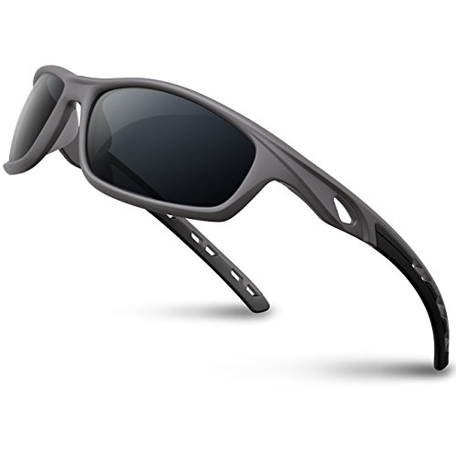 05ab6bbd60f RIVBOS Polarized Sports Sunglasses Driving Sun Glasses Shades for Men Women  Tr 90 Unbreakable Frame for Cycling Baseball Running Rb833