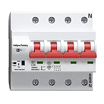 Interruptor de tiempo 4P con funció n de retardo, bloqueo automá tico, grabador inteligente WiFi circuito interruptor bloqueo automático WEBN