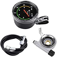 Bicycle Speedometer, Mechanical Bike Accurate Speedometer Odometer Cycling Speed Detector Accessory