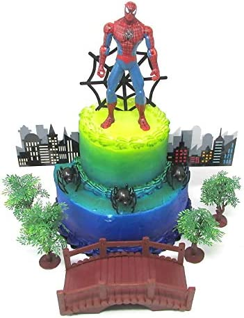Terrific Amazon Com Cake Toppers Super Hero Spider Man Birthday Set Birthday Cards Printable Opercafe Filternl