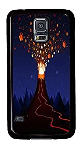 custom made Samsung S5 cover Gift Moutain Holiday PC Black Custom Samsung Galaxy S5 Case Cover
