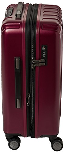 Delsey Luggage Helium Titanium Carry-On EXP Spinner Trolley Red, Black Cherry, One Size by DELSEY Paris (Image #3)