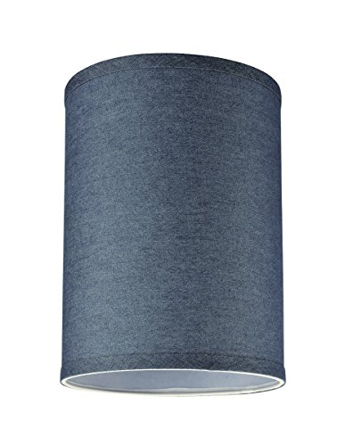 99db0027a834 Aspen Creative 31112, Transitional Hardback Drum (Cylinder) Shaped Spider  Construction Lamp Shade in