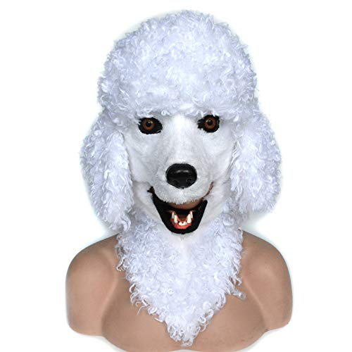 HOMCOM Poodle Dog Costume Mouth Mover Mask -