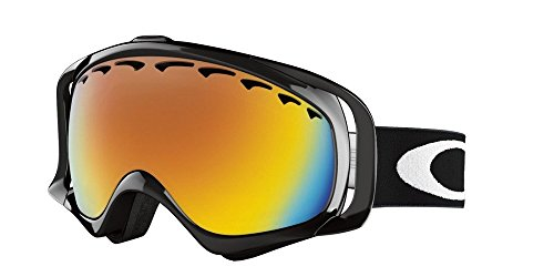 Oakley Unisex-Adult Crowbar Goggles (Jet Black,Fire Iridium) (2014 Oakley Goggles)
