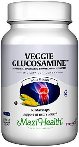 Maxi Health Veggie Glucosamine - with MSM - Vegetarian Joint Formula - 60 Capsules - Kosher by Maxi-Health