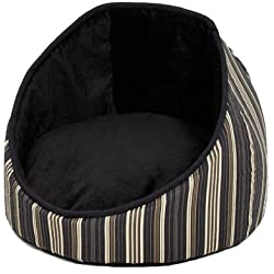 Midwest Homes for Pets Reversible Cabana Bed with Stripes, Black