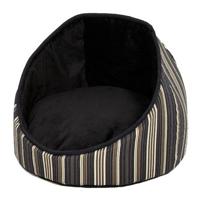 Midwest Homes for Pets Reversible Cabana Bed with Stripes, Black by MidWest Homes for Pets