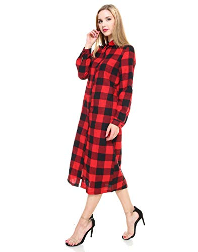 Longues Grand Femmes Manches Ouvert Cardigan Rouge Carreaux Les Pour À Melody Maxi qtSvx4zqn
