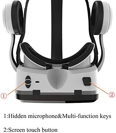 VR Headset with Bluetooth Headphones, Eye Protected HD Virtual Reality Headset,VR Glasses for iPhone and Android Phone Within 4.7-6.2Screen 41XC efle9L