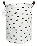 CLOCOR Large Storage Bin-Cotton Storage Basket-Round Gift Basket with Handles for Toys,Laundry,Baby Nursery (Hill)