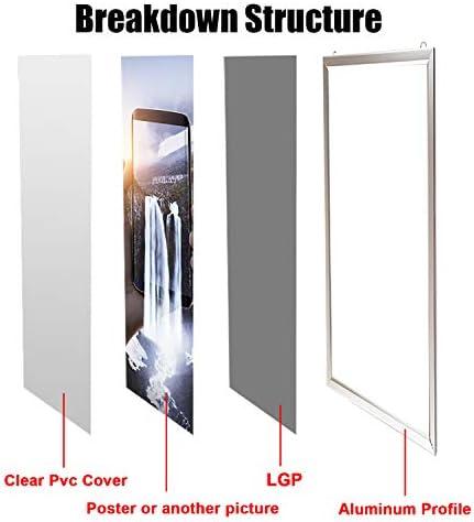 HELEN DECORATION Marco de Fotos con luz LED A3 Estructura de Aleación de Aluminio Plata Multifuncionales a Presión para la Pared Decorar Cuadros de Carteles (Plata, A3| 45,72 * 33,02 * 2,31cm): Amazon.es: Hogar