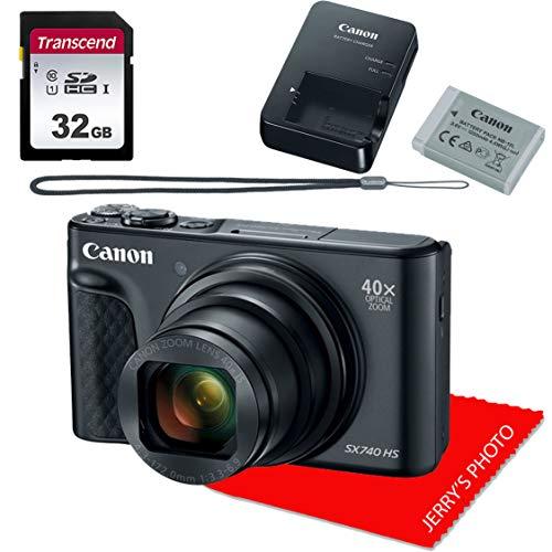 Canon PowerShot SX740 HS Digital Camera + 32GB Memory Bundle (Canon Powershot Sx730 Hs 20-3 Megapixel Digital Camera)