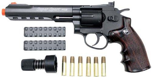 wingun 702 6 revolver co2 gas gun bk(Airsoft Gun)