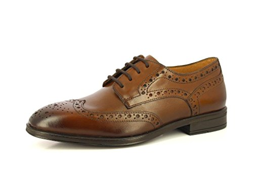 9 D(M) US,ALBERTO TORRESI MEN'S GENIUNE LEATHER CLASSIC LACE UP CLOSURE BROGUE DURBEY DRESS BROWN FORMAL SHOES,9 D(M) (Full Brogue)