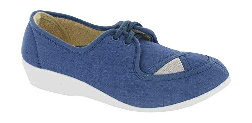 Size 8 Canvas Blue Up Nelly Lace Mirak XqRn8TgR