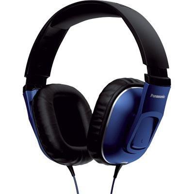 Panasonic RP-HT470C-A Headphone - Headphones (Black, Blue, Supraaural, 3.5 mm (1/8