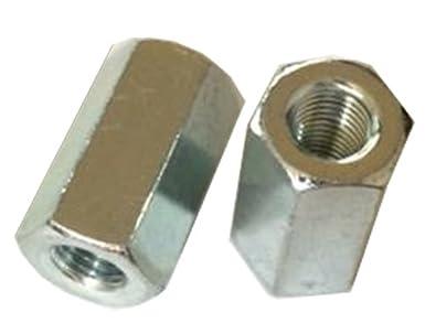 (1 Piece) M10-1 25 Hex Coupling Nut, Steel Zinc DIN 6334