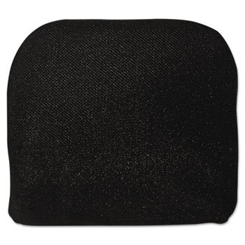 Advantus Foam (Memory Foam Massage Lumbar Cushion, 12-3/4w X 3-1/2d X 12-1/2h, Black)