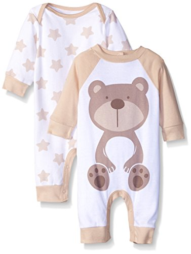 gerber-unisex-baby-newborn-2-pack-coverall-brown-bear-6-9-months