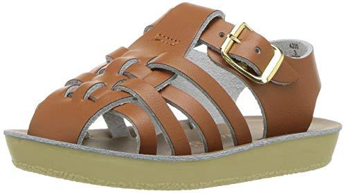 (Salt Water Sandals by Hoy Shoes Baby Sun-San Sailor Flat Sandal tan 3 M US Infant)