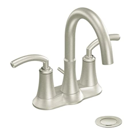 Moen S6510BN Icon Two-Handle Lavatory Faucet with Drain Assembly ...