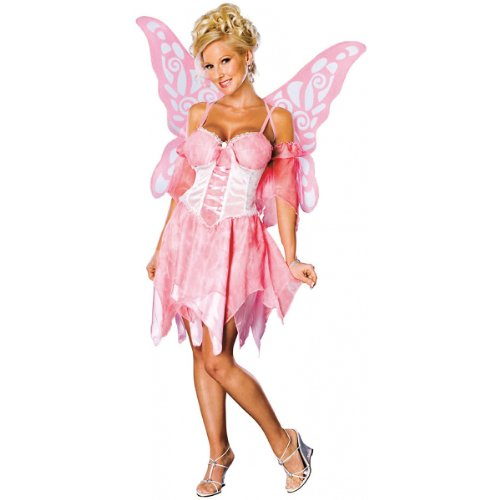 [Secret Wishes Sugar Plum Fairy Costume With Wings, Pink, Large (10/14)] (Sexy Fairy Halloween Costumes)