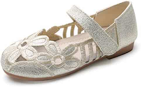 8124f8710a0 Chiximaxu Girls Ballerina Flat for Party Wedding Dress Kids Slip on Mary  Jane