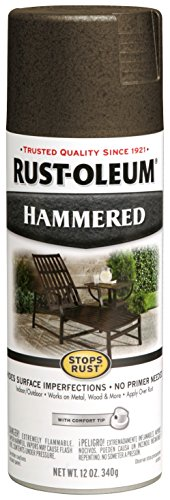 - Rust-Oleum 7218830-6 PK Stops Rust Hammered Finish Spray Paint, 6 Pack, Dark Bronze