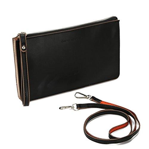 Women Clutch PU Leather Wallet (Black) - 4
