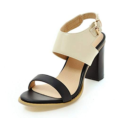 Square High Heels for Women Ankle Buckle Strap Peep Toe Party Daily Dress Sandals Ladies Mixed Color Summer Shoes