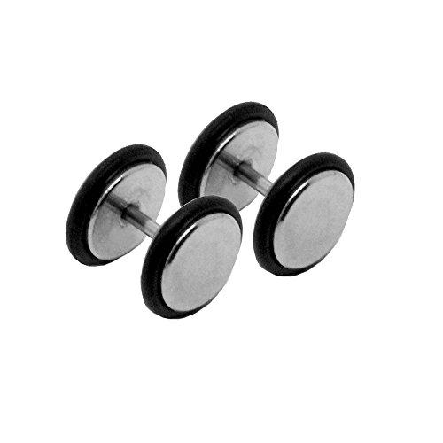 tumundo 1 Paire Fake Plugs Boucles d'oreilles Piercing Faux Plugs Femme Strass Acrylique Acier Inoxydable Unisex, modèle:mod 1