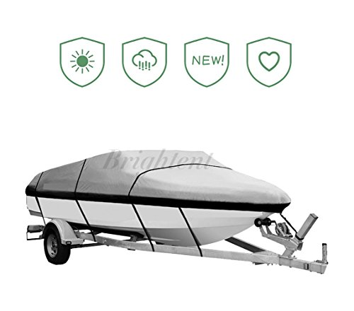 - Brightent Boat Cover Heavy Duty 600D Three Sizes Water Proof Trailer Fishing Ski Covers (Fit Boat Length 17'-19' XBT2H)