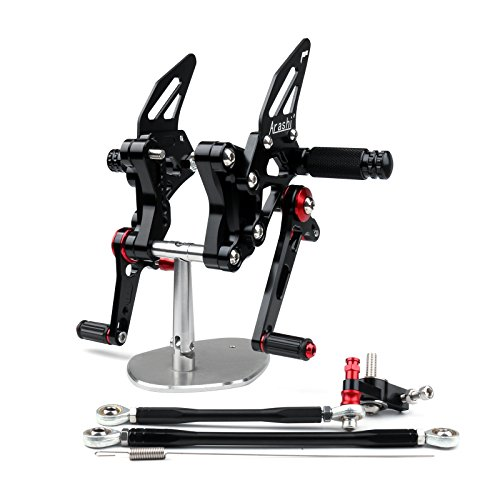 - Areyourshop Rearset Rear set For Ducati 848 1098 1098S 1098R 1198 Black