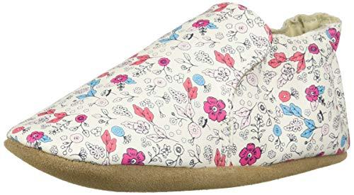 (Robeez Girls' Soft Soles Crib Shoe, Floral, 12-18 Months)