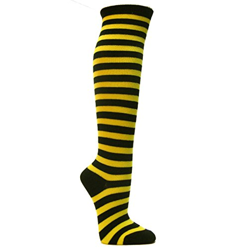 Couver Striped Knee High Fashion/Casual Tube Cotton Socks(Assorted