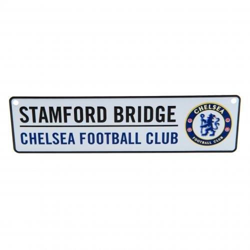 (CHELSEA FC Official Window Sign Metal Stamford Bridge Blue Club Crest )