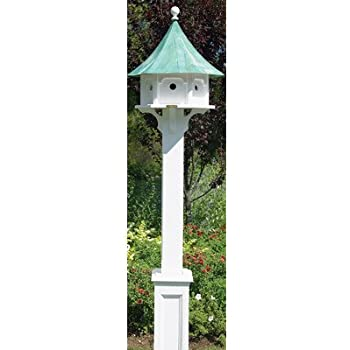 Good Directions Lazy Hill Farm Designs 999132 Hammersley Vinyl Post for Bird Houses, 104-Inch, White