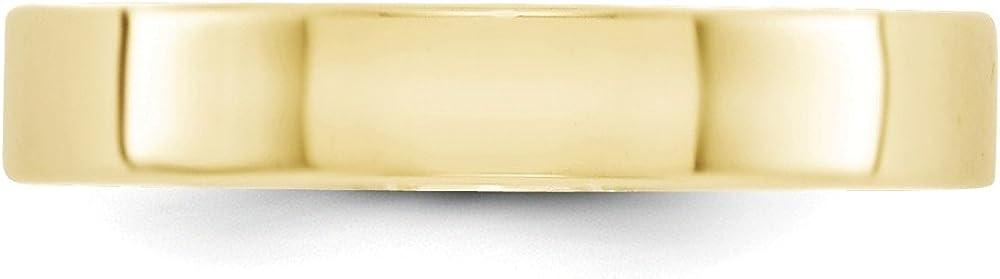 Jewel Tie 10k Yellow Gold 4mm Flat Wedding Band