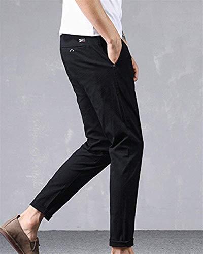 Taglie Da Abiti Di Tasche Nero Felpati Comode Pantaloni Unita Con Fashion Hx Tinta Uomo Casual Lino Comodi R8xqwZIgU