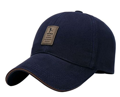 ERIC YIAN Baseball Caps Solid Color Hat Adjustable Size Adult