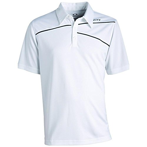 Oakley Golf Men's Active Polo Shirt, White, Large