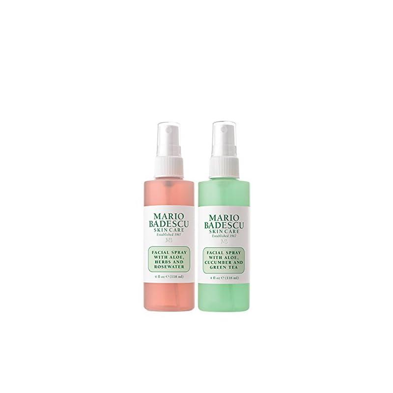 Mario Badescu Facial Spray Herbs/Rosewater and Cucumber/Green Tea (Pack of 2)