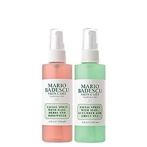 Mario Badescu Facial Spray with Rosewater & Facial Spray with Green Tea Duo, 4 oz.