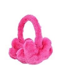 Adjustable Unisex Winter Earwarmers Star Fur Earmuffs - Hot Pink
